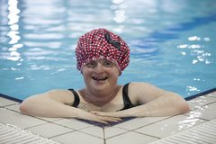 Female service user swimming at St. Michael's House Leisure Centre