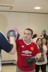 Male adult attending Boxing Classes